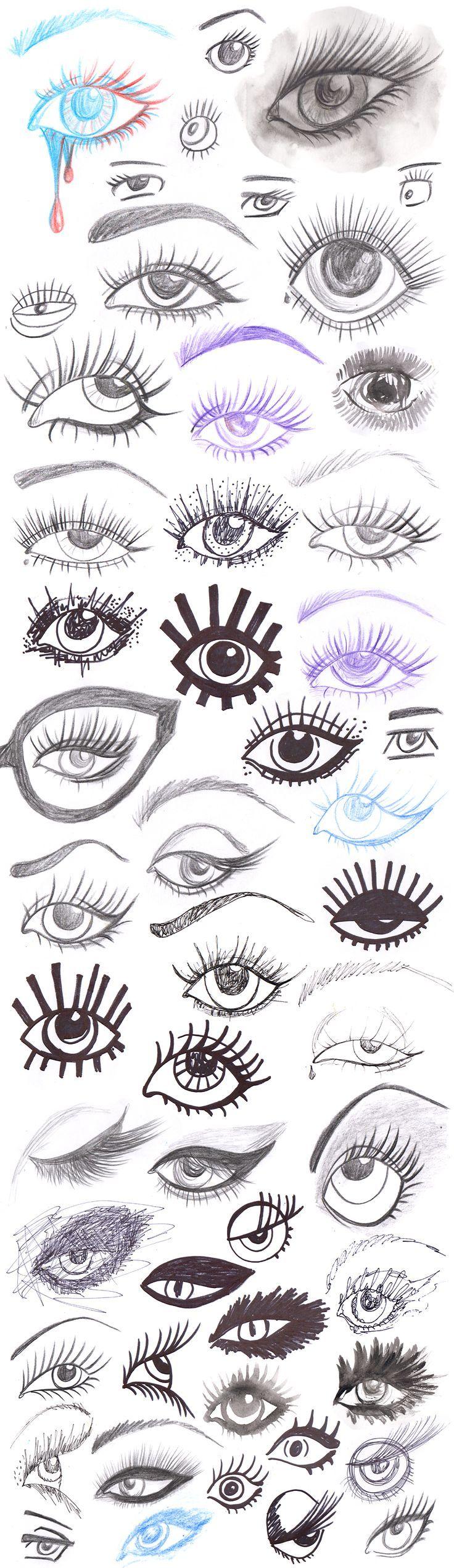 Как рисовать стилизованные глаза акварель уроки рисования ...