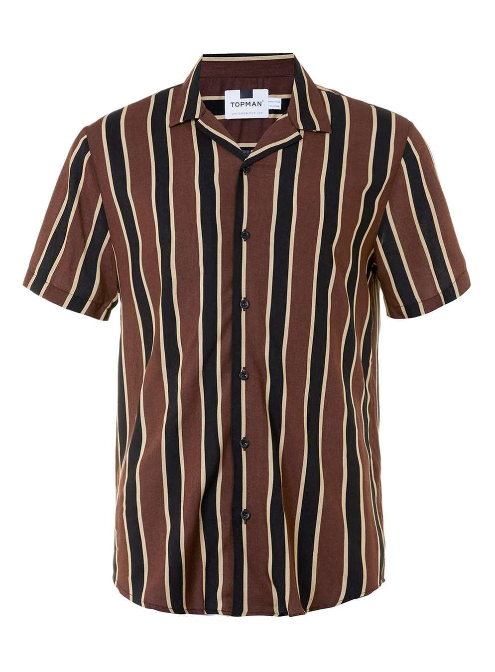 USA Men Striped Short Sleeves Casual Popular Stripe Cotton Short Sleeve T-Shirt