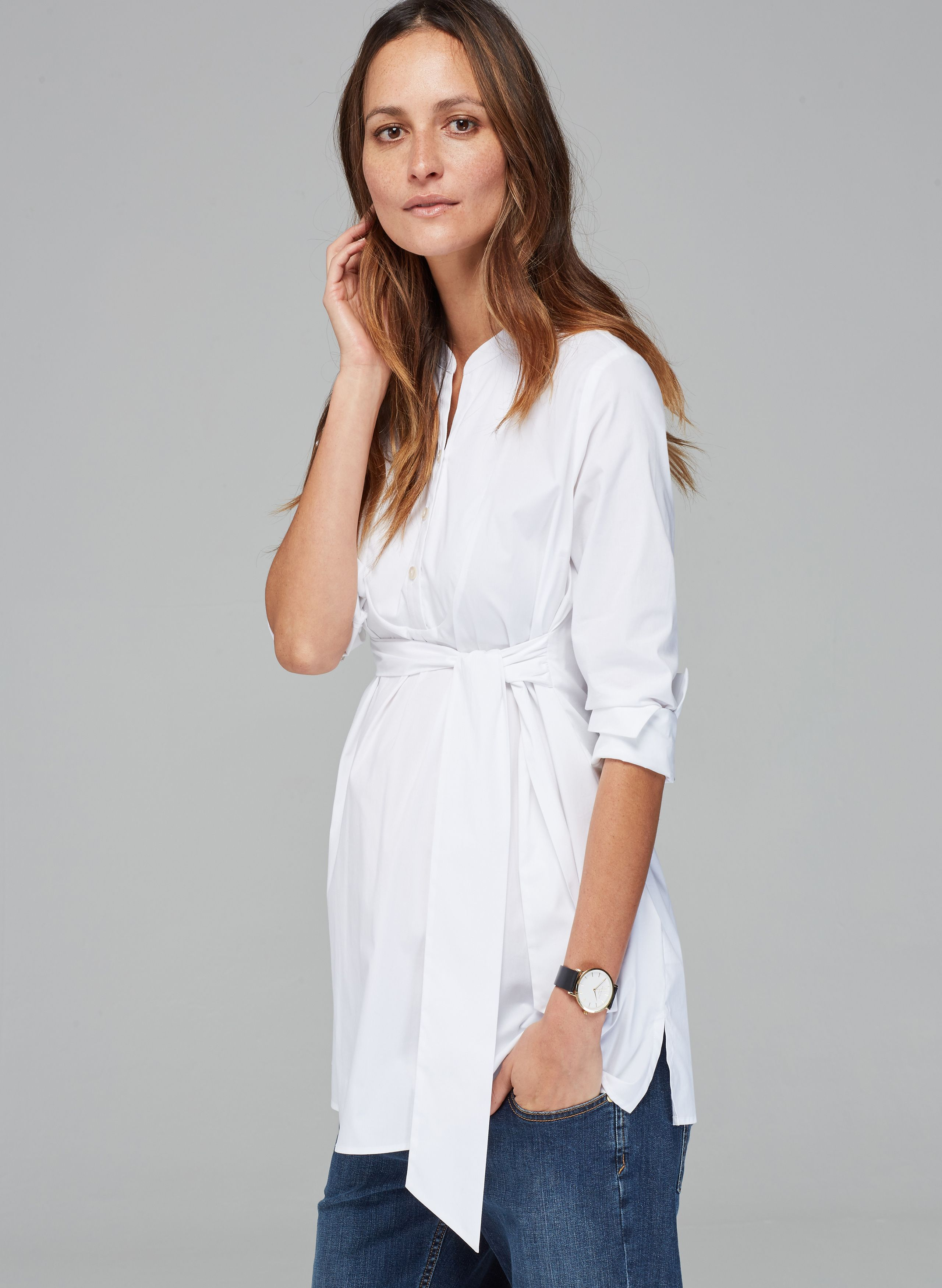 7c9bce8badfde6 Granville Maternity Shirt in [colour] at Isabella Oliver. Discover the  leading British maternity fashion brand for chic, premium quality maternity  clothes.