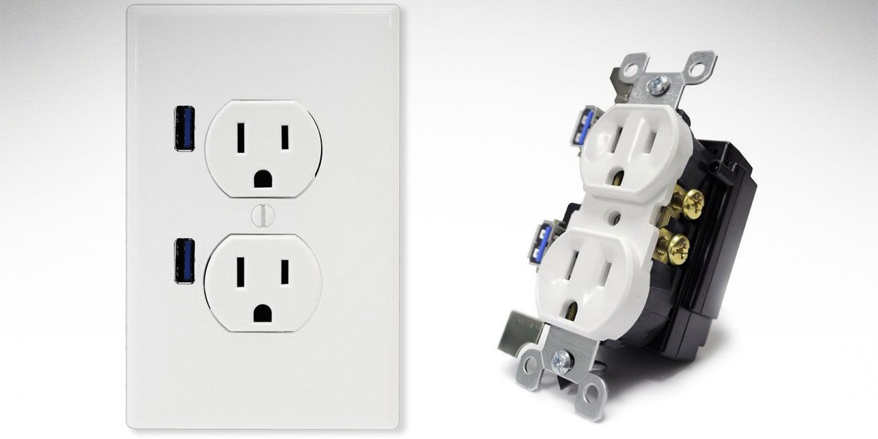 Uncategorized Install Usb Outlet wire an outlet with built in usb ports iphone charger outlets ports