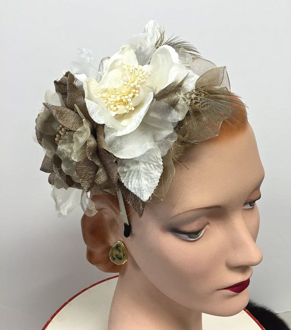 Kentucky Derby Hat Fascinator with Handmade by MakowskyMillinery