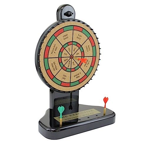 Dart Board For Your Office Desk Makes Important Work Decisions Easy.
