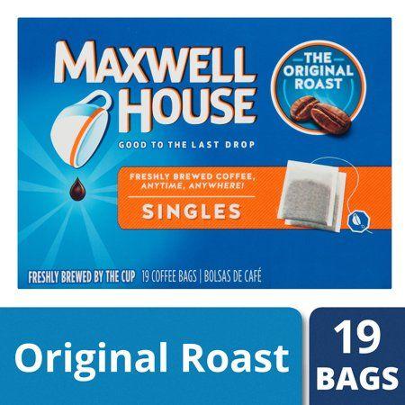 Maxwell House Singles Original Roast Instant Coffee Bags 19