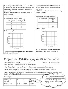 Students explore the relationship between proportional and non ...