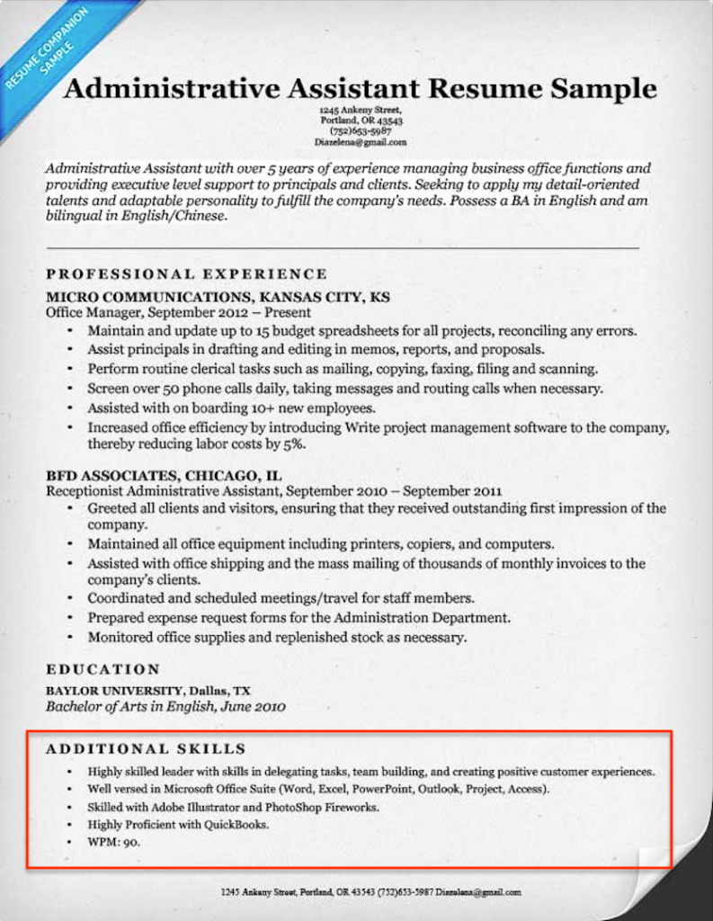 Additional Skills For Resume Beauteous Resume Examples With Skills  Pinterest  Resume Examples