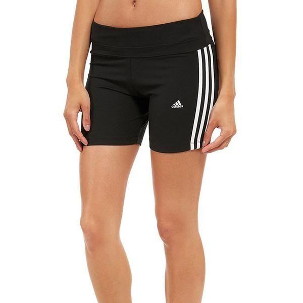 Adidas Womens Essential 3 Stripe Tight Shorts  83783bc2d86