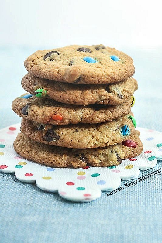 Birthday Chocolate Chip Cookies from Lauren Kelly Nutrition