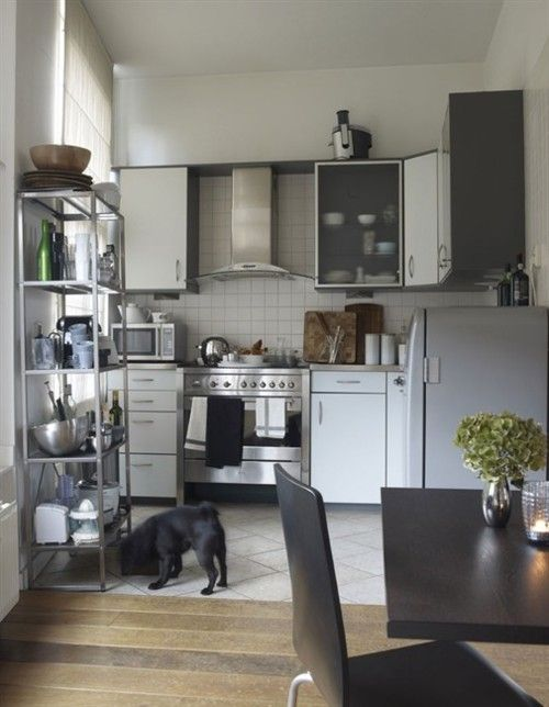 Have Steel Shelving Storage For Dry Food Dishes Etc As