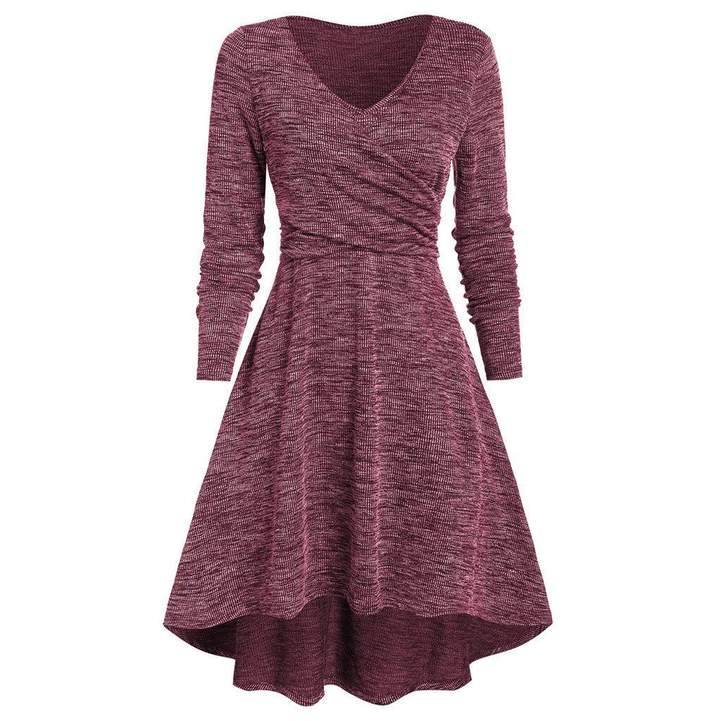 sannysis damen pulloverkleid strickkleid sweater winter