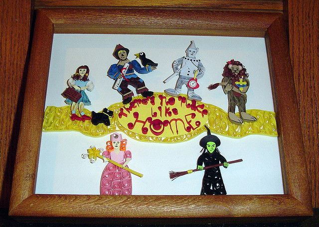 """Paper Quilling 9X11 """"There's no place like home"""", via Flickr. Hope's art"""