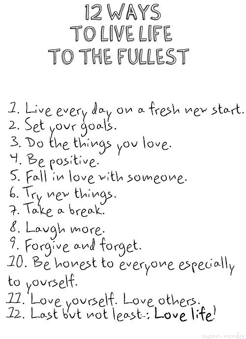 Pauliieo: How To Live Life To The Fullest ♥