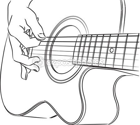 guitarra acustica dibujo - Buscar con Google | guitarra | Pinterest ...