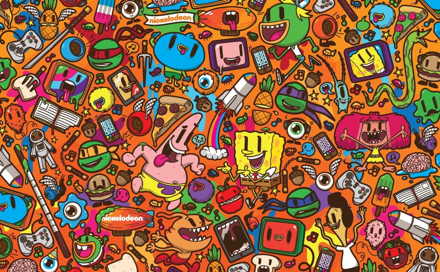 1400x865 Px Caricature Nickelodeon Patrick Star Spongebob Squarepants Video Games Final Fantasy Hd Art Sponge Colorful Wallpaper Spongebob Wallpaper Spongebob