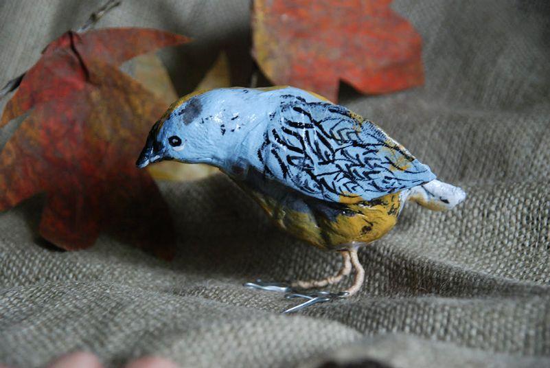 есть там поделка птичка из папье маше фото можно