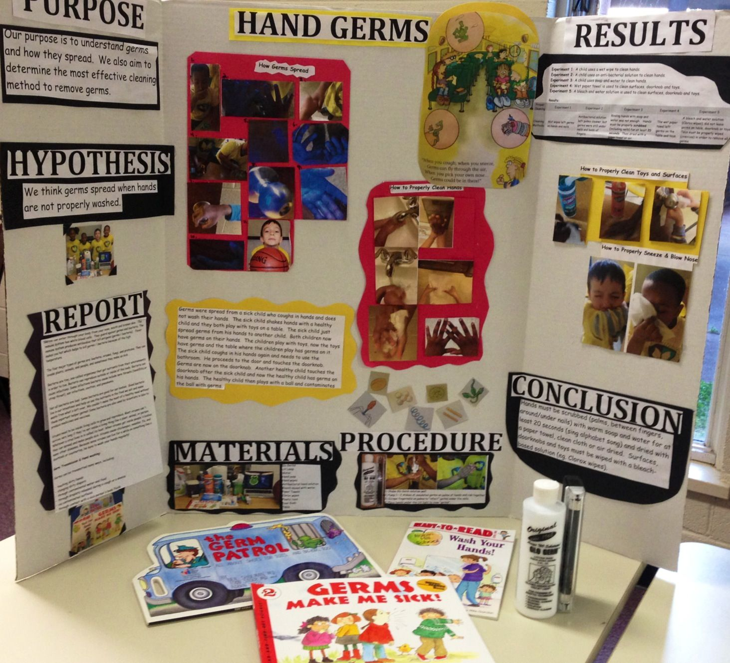 Group Science Fair Project Hand Germs With Images Cool