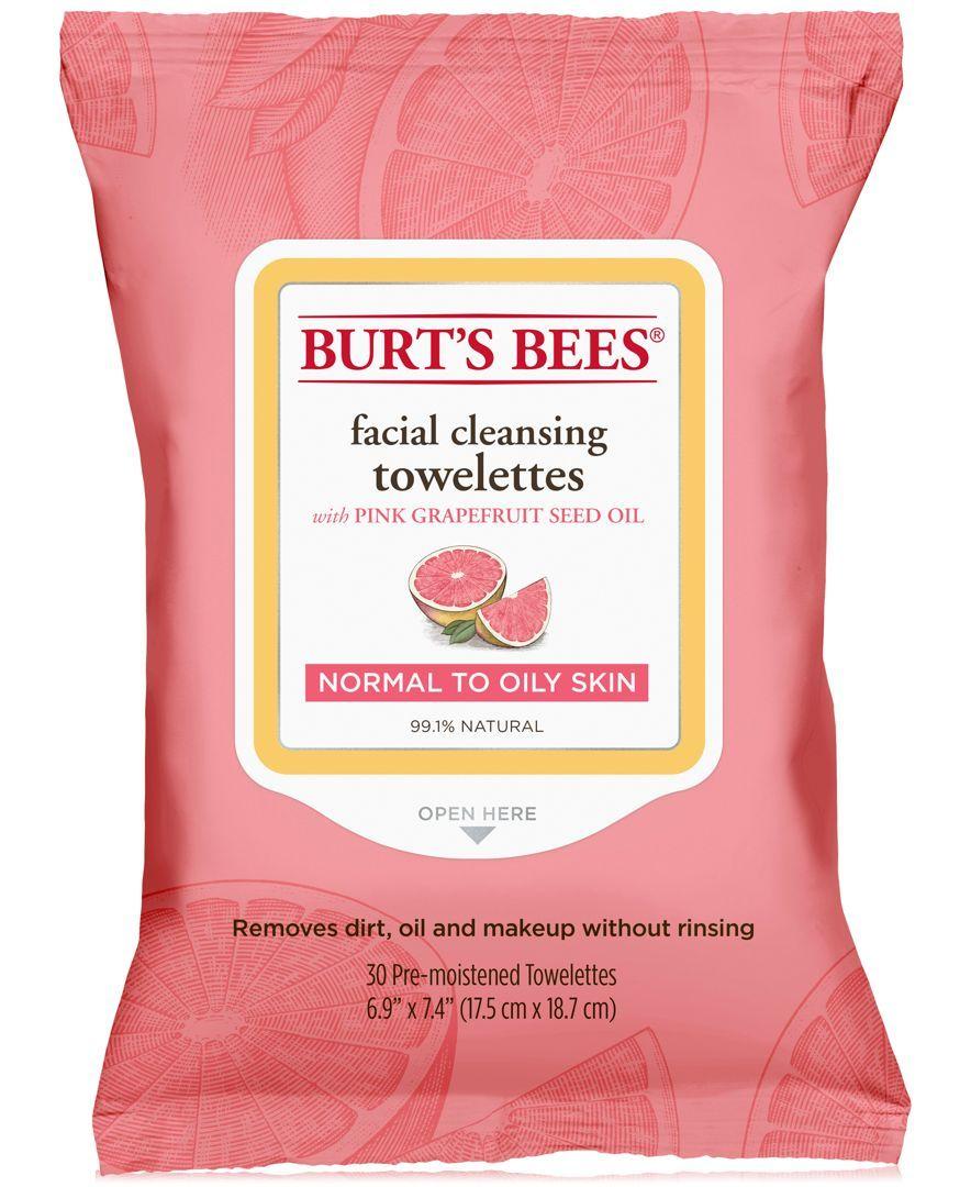 Burt's Bees Facial Cleansing Towelettes Pink Grapefruit