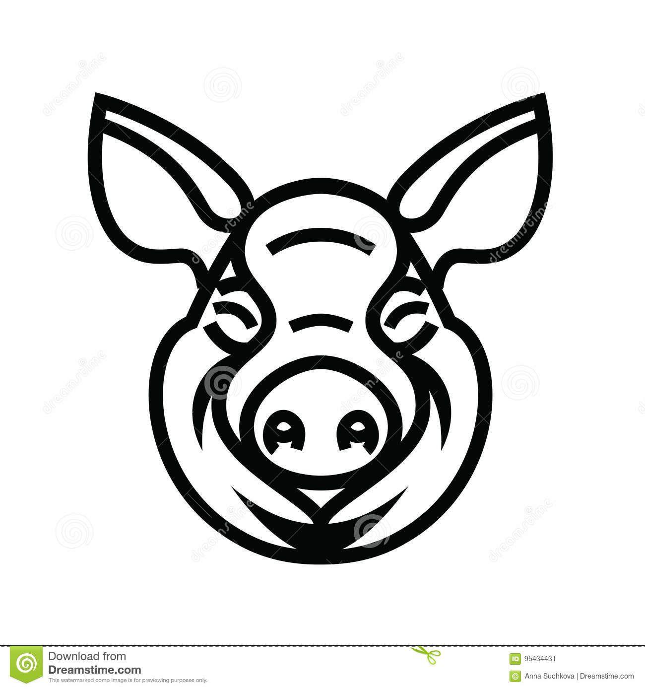 Resultado de imagen para cabeza cerdo logo | IDEA | Pinterest | Cerdo