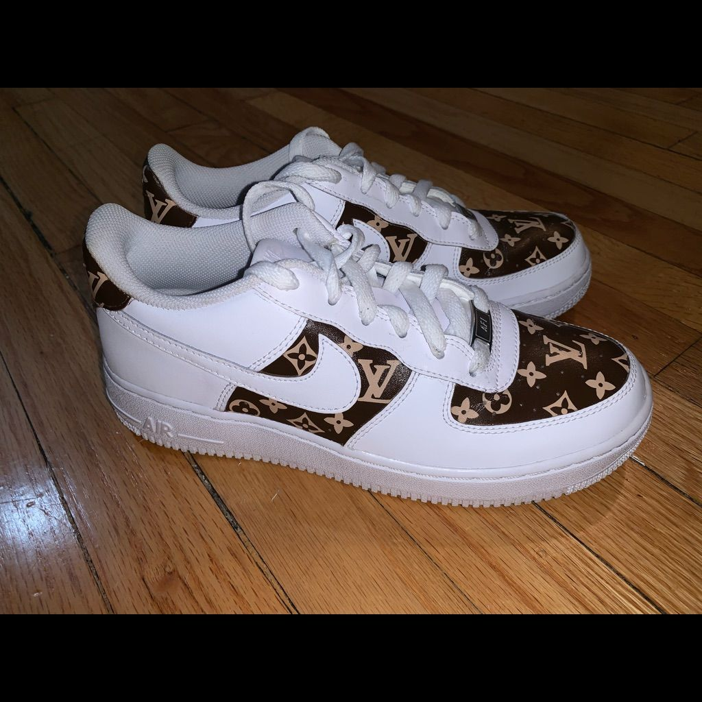 Nike Air Force One customized Louis Vuitton shoes Nike
