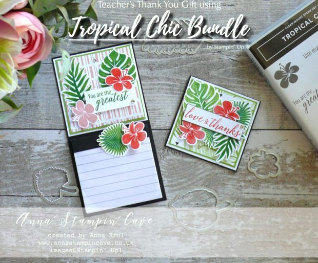 Teachers Thank You Gift Using Stampin Up Tropical Chic Bundle
