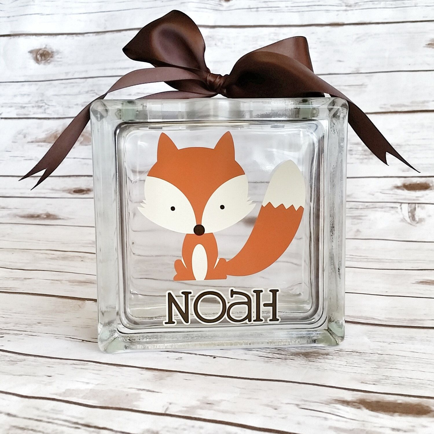 Fox Bank Personalized Bank Woodland Piggy Bank