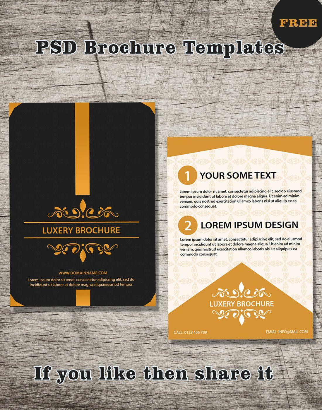 Free brochure psd templates brochure design pinterest free free brochure psd templates xflitez Images