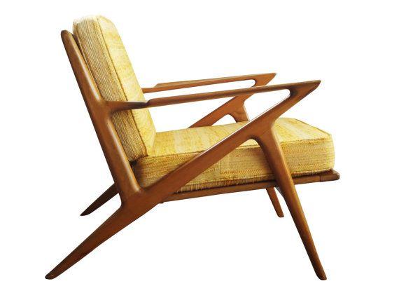 Early Danish Modern Poul Jensen Z Chair Selig Denmark Sculptural