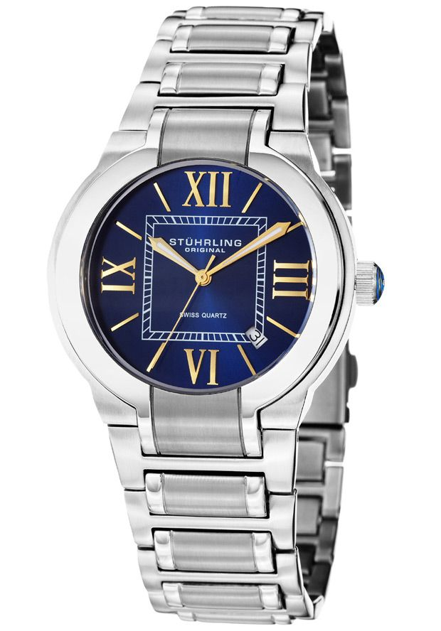 Price:$146.67 #watches Stuhrling Original 428.33116, This elegant men's timepiece is the perfect gift for all occasions. The dial features Roman numerals and a date window between the 4 and 5 o'clock position. This men's watch is finished off with a stainless steel bracelet.