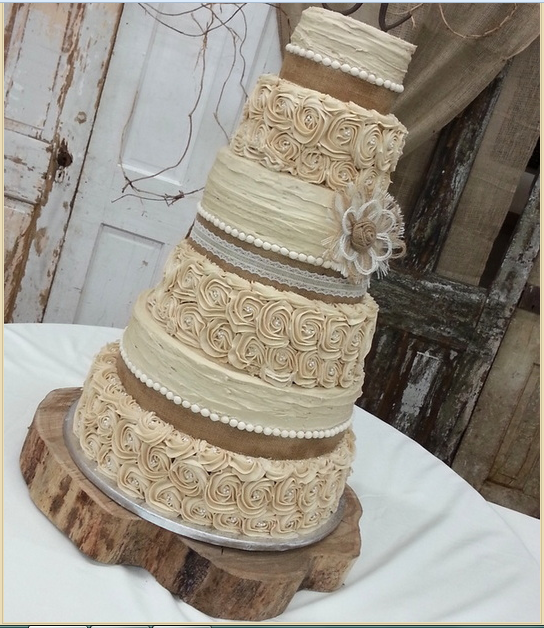 Rustic Wedding Cake: This Cake Might Be A Little Bit Too Big, And I Am Not In