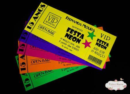 Resultado De Imagen Para Convite Festa Neon Fiestas De