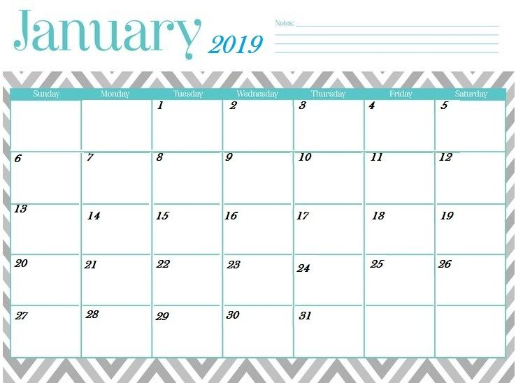 January 2019 Calendar Tumblr January 2019 Calendar Printable