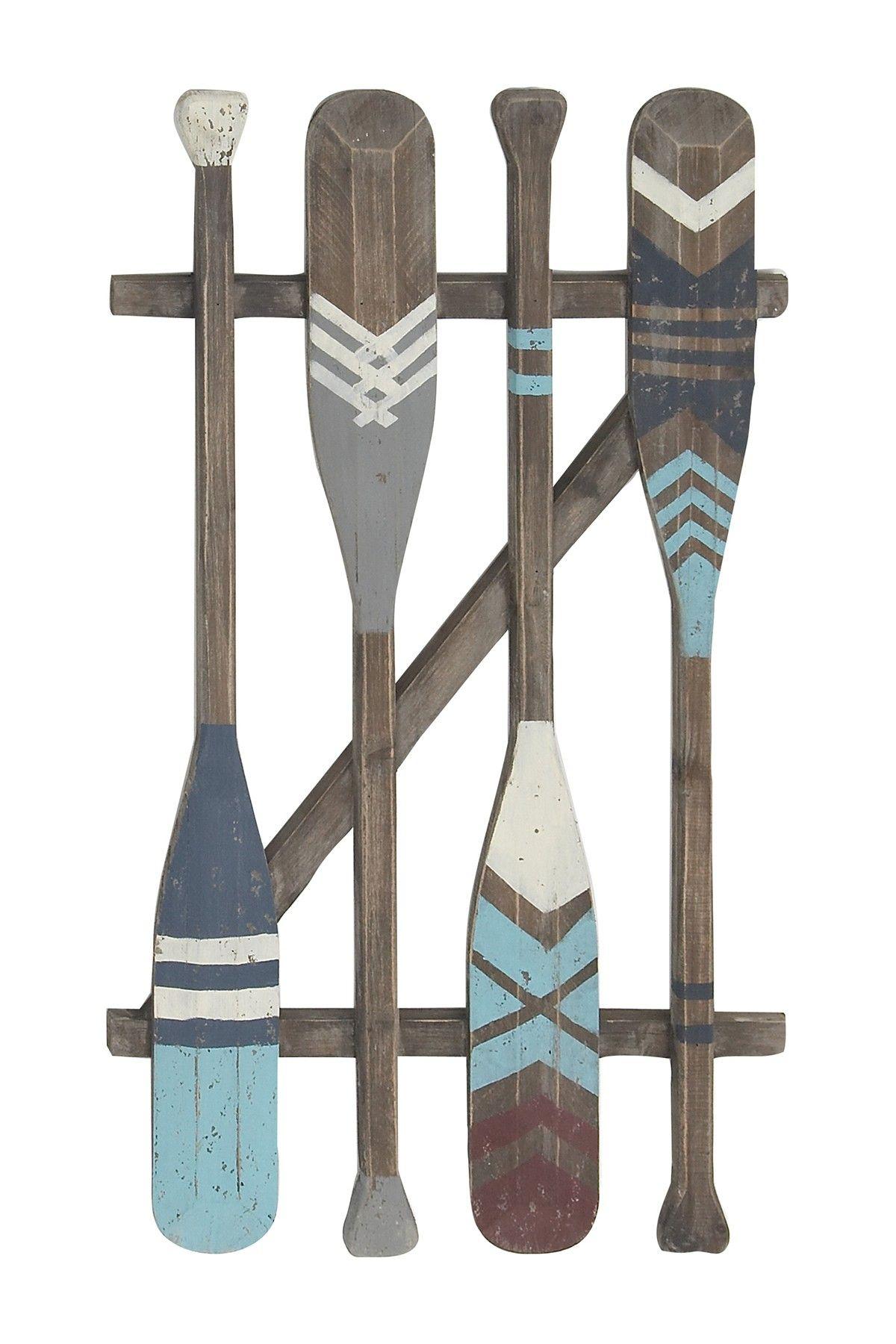 Coastal Wooden Oars Wall Art Wooden Oars Painted Oars Painted Paddles