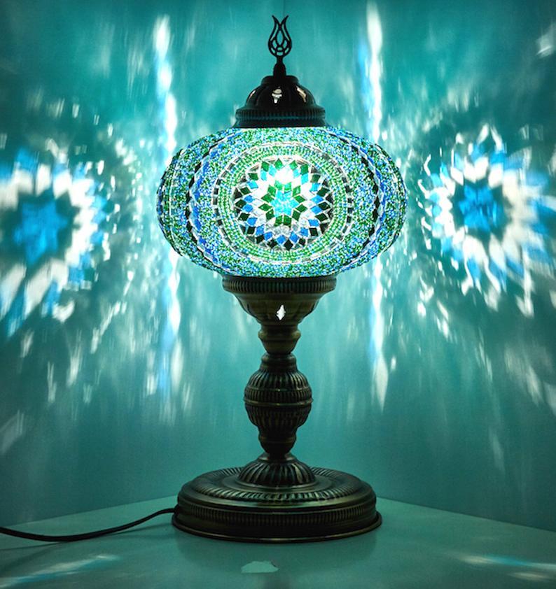 XL 10 Turkish Moroccan Handmade Mosaic Table Desk   Etsy in