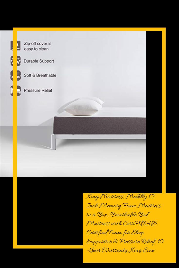King Mattress Molblly 12 Inch Memory Foam Mattress In A Box