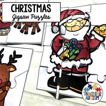 Christmas Jigsaw Puzzles Christmas Activities for Special
