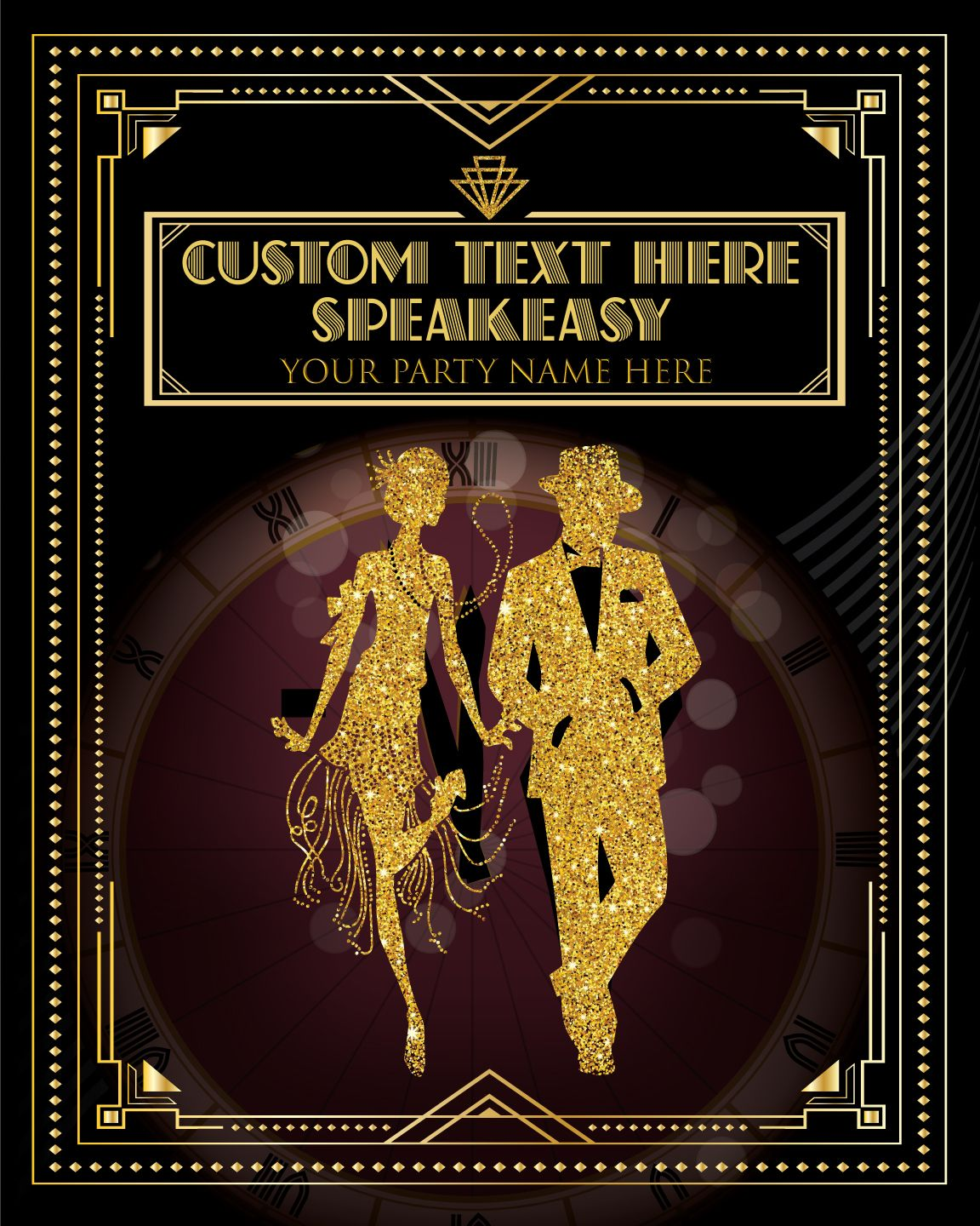 A Personalized Roaring 20s Themed Poster For Your Special