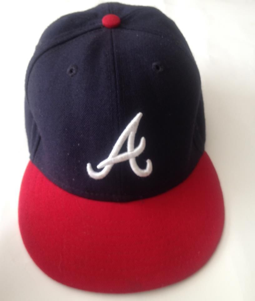 3ea88e66c340e Atlanta Braves New Era Fitted Hat Authentic On Field Kids 59Fifty Cap Navy 6  3 4  NewEra  AtlantaBraves