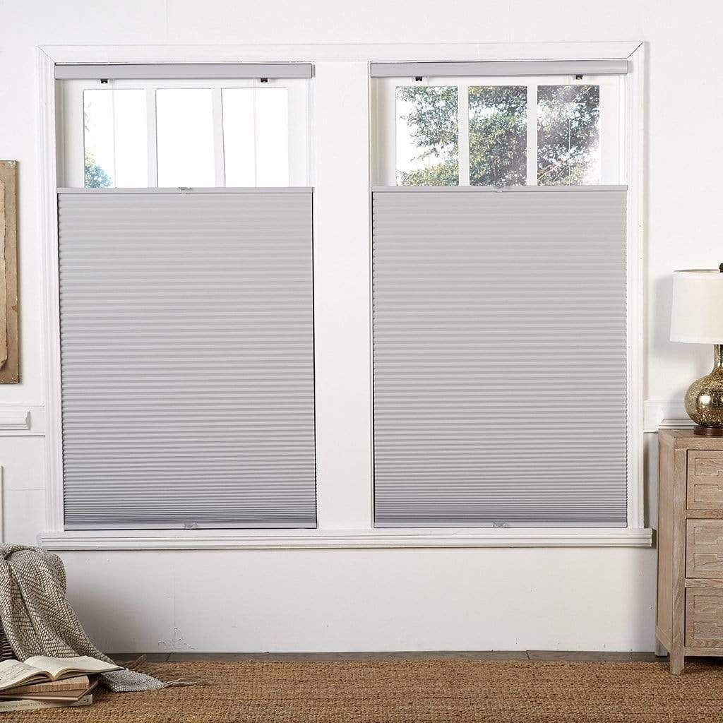 Cordless Blackout Top Down Bottom Up Shade Sterling Gray 64 Inch Long 20 To 48 Inch Wide Blackout Shades Honeycomb Blinds Window Treatments Bedroom
