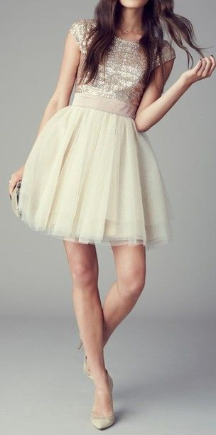 Cute sequin dress with white pearls