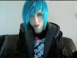 Emo Boy Blue Hair Cute Emo Boys Hot Emo Boys