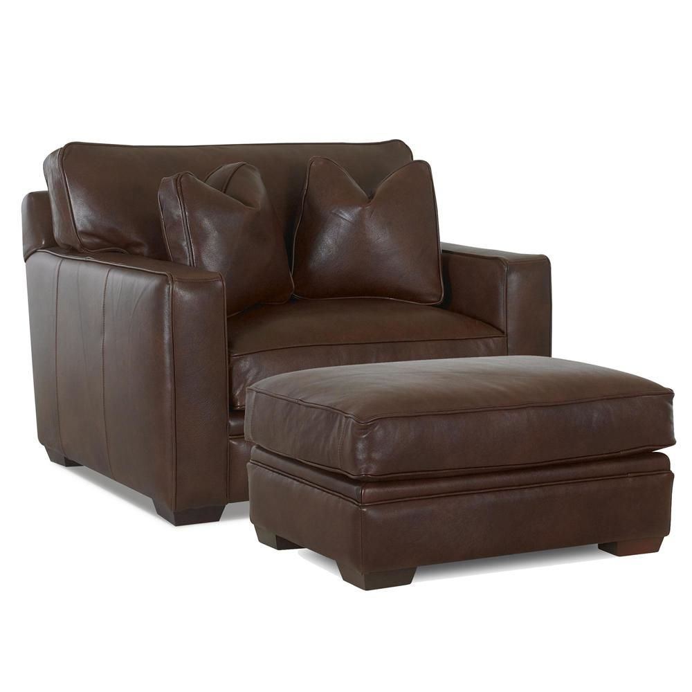 Homestead Chair and Ottoman by Klaussner Leather chair