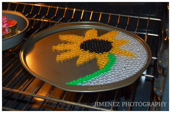 SUNFLOWER MELTED PONY BEADS 3