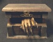 MUMMIFIED MYSTERY HAND  tale of the monkey paw  -  real taxidermy curio for victorian cabinet of curiosities