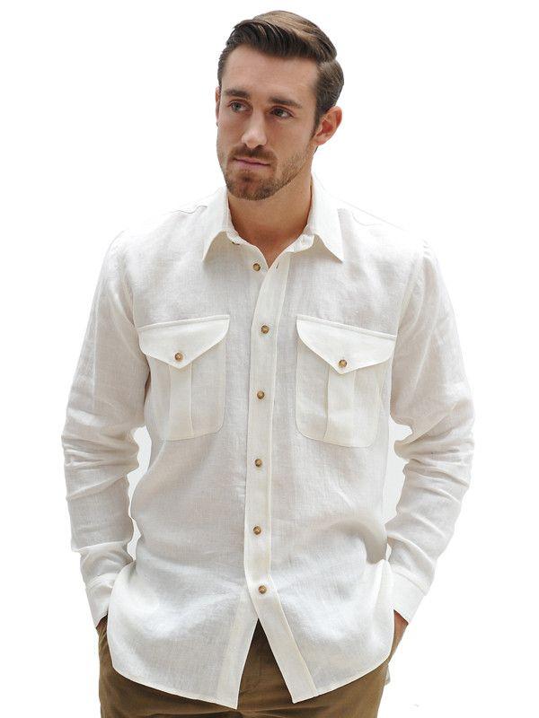 italian linen safari shirt style