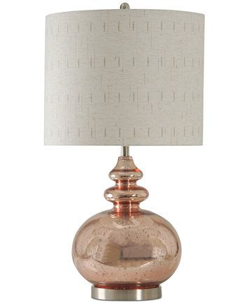 Stylecraft rose mercury table lamp macys com