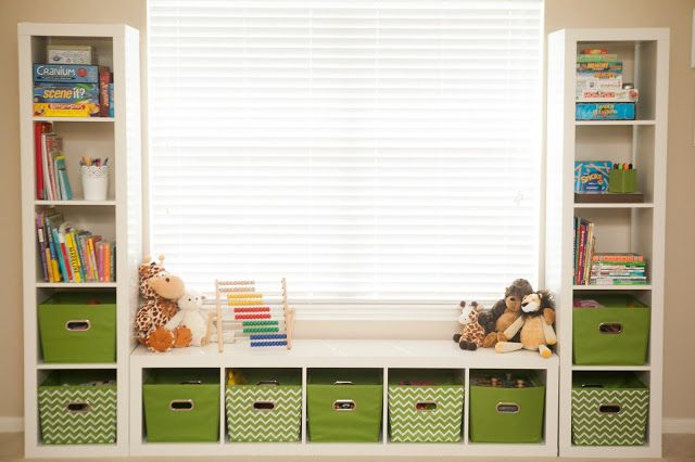 10 amazing ideas for organizing your playroom kid bedrooms we love pinterest kinderzimmer. Black Bedroom Furniture Sets. Home Design Ideas