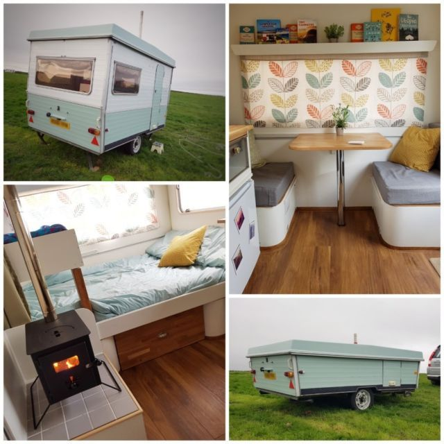We would be confident in saying our lovely folding caravan is  one of kind this classic lightwei also diy camper ideas vintagecampers vintage campers pinterest rh