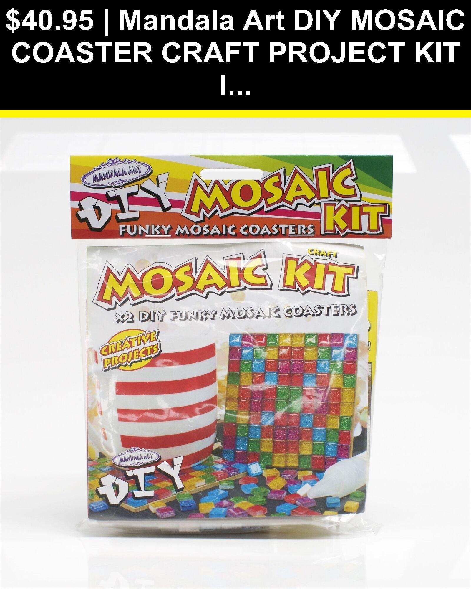 Mosaic Tools 41372 Mandala Art Diy Mosaic Coaster Craft Project Kit