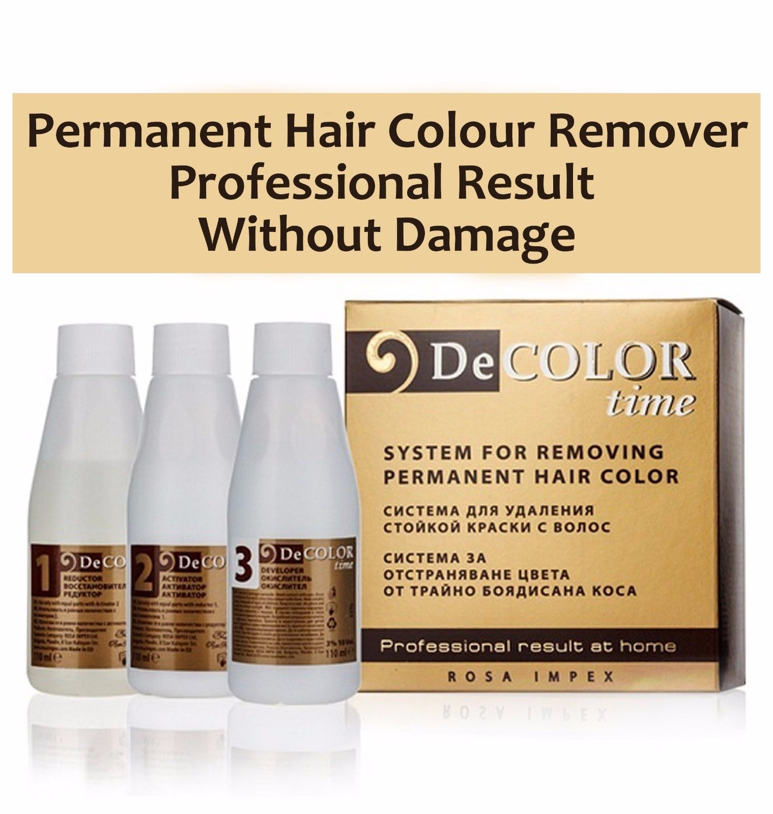 Hair Color Remover Permanent Dye Tint Stripper Eraser No Damage Very