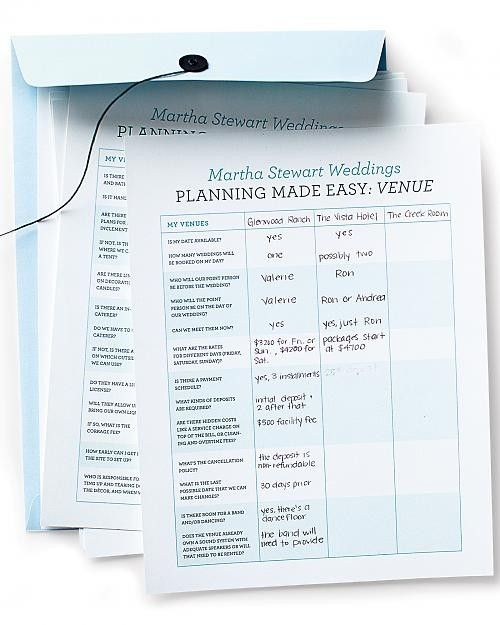 Wedding Planning Worksheets To Help Keep Things Straight During The