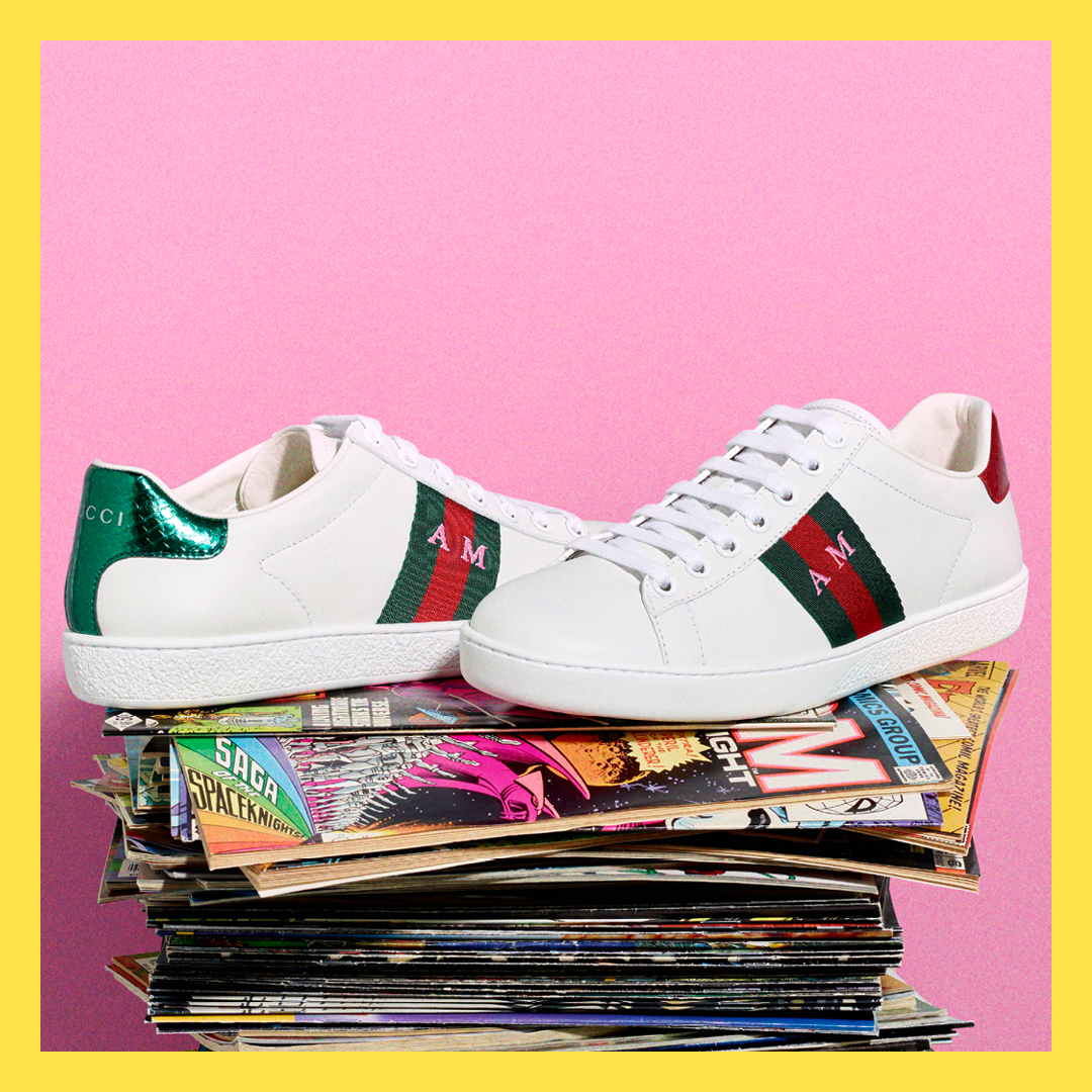 2a96d0189e2 GUCCI DIY  Make your Gucci DIY Ace sneakers truly unique to you ...